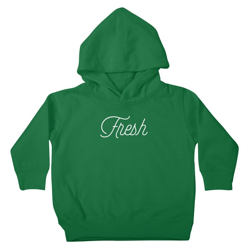 Fresh Script Kids Toddler Pullover Hoody by Shane Guymon