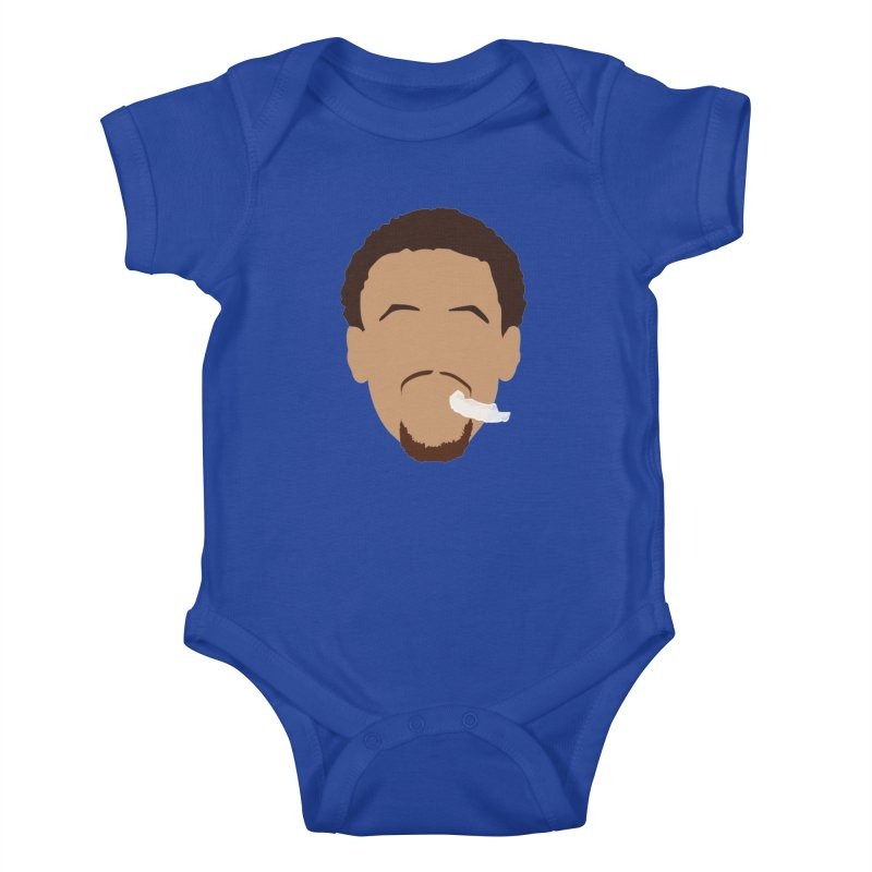 Steph Curry Head Kids Baby Bodysuit by Shane Guymon