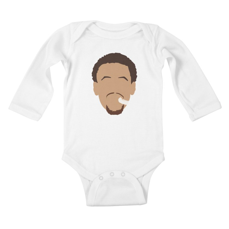 Steph Curry Head Kids Baby Longsleeve Bodysuit by Shane Guymon