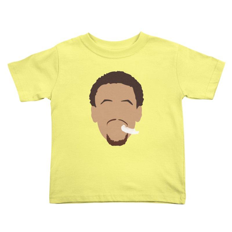 Steph Curry Head Kids Toddler T-Shirt by Shane Guymon