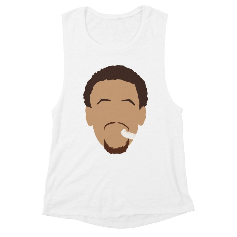 Steph Curry Head Women's Muscle Tank by Shane Guymon