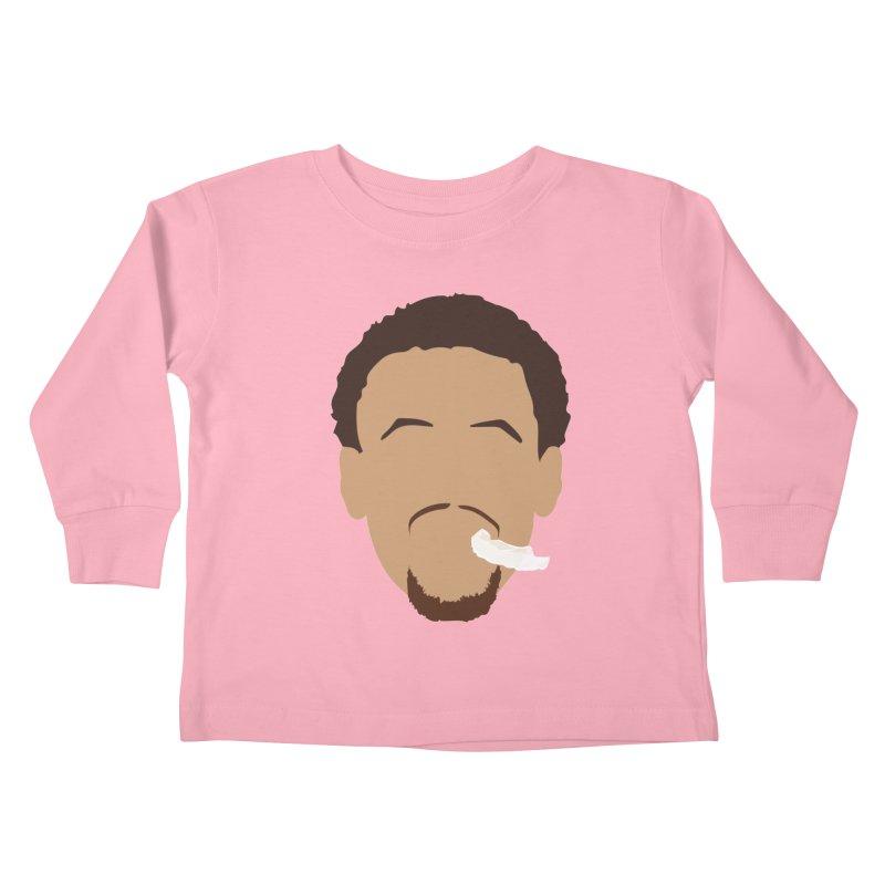 Steph Curry Head Kids Toddler Longsleeve T-Shirt by Shane Guymon