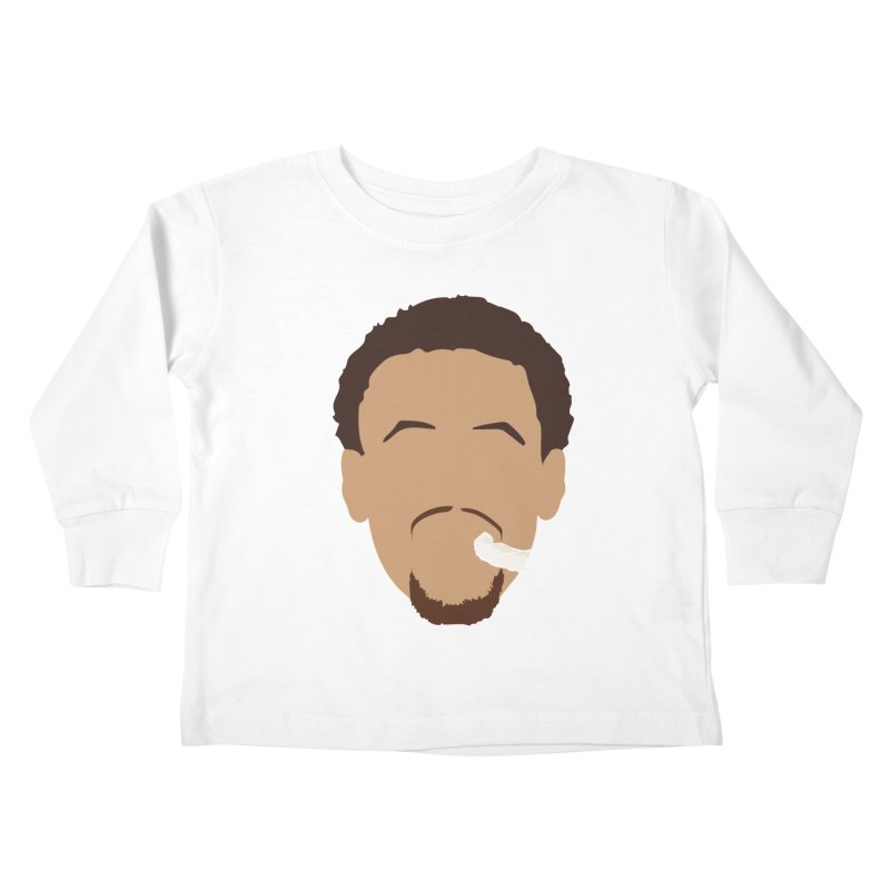 Steph Curry Head Kids Toddler Longsleeve T-Shirt by Shane Guymon