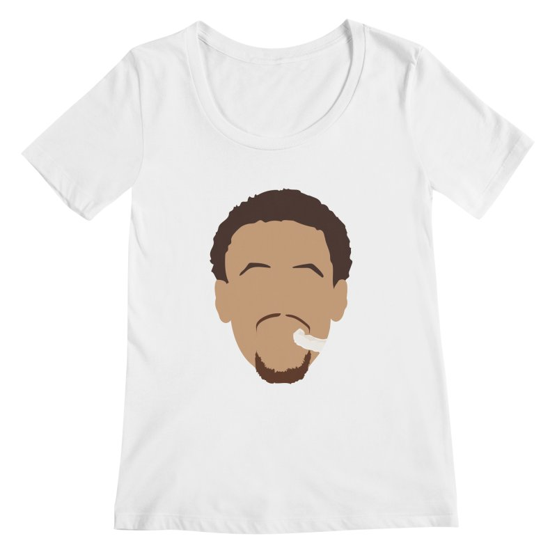 Steph Curry Head Women's Scoopneck by Shane Guymon