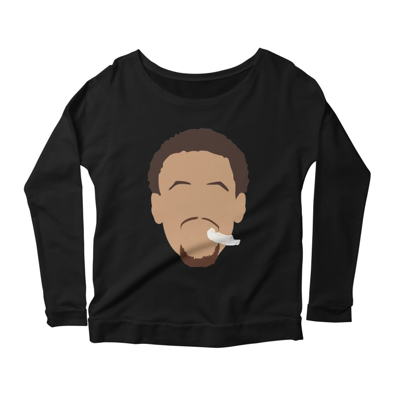 Steph Curry Head Women's Scoop Neck Longsleeve T-Shirt by Shane Guymon