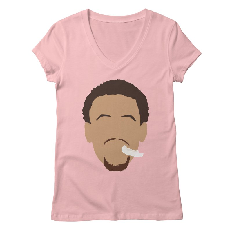 Steph Curry Head Women's Regular V-Neck by Shane Guymon