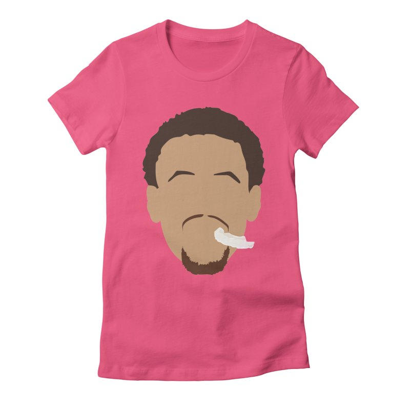 Steph Curry Head Women's Fitted T-Shirt by Shane Guymon