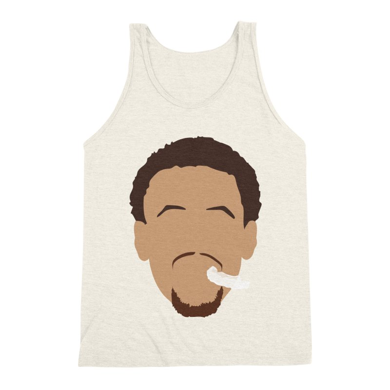 Steph Curry Head Men's Triblend Tank by Shane Guymon