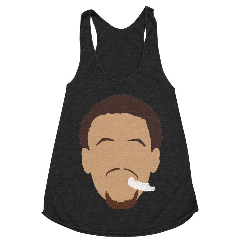 Steph Curry Head Women's Racerback Triblend Tank by Shane Guymon