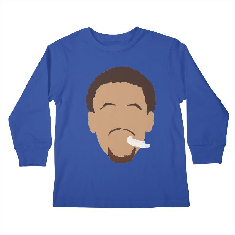 Steph Curry Head Kids Longsleeve T-Shirt by Shane Guymon