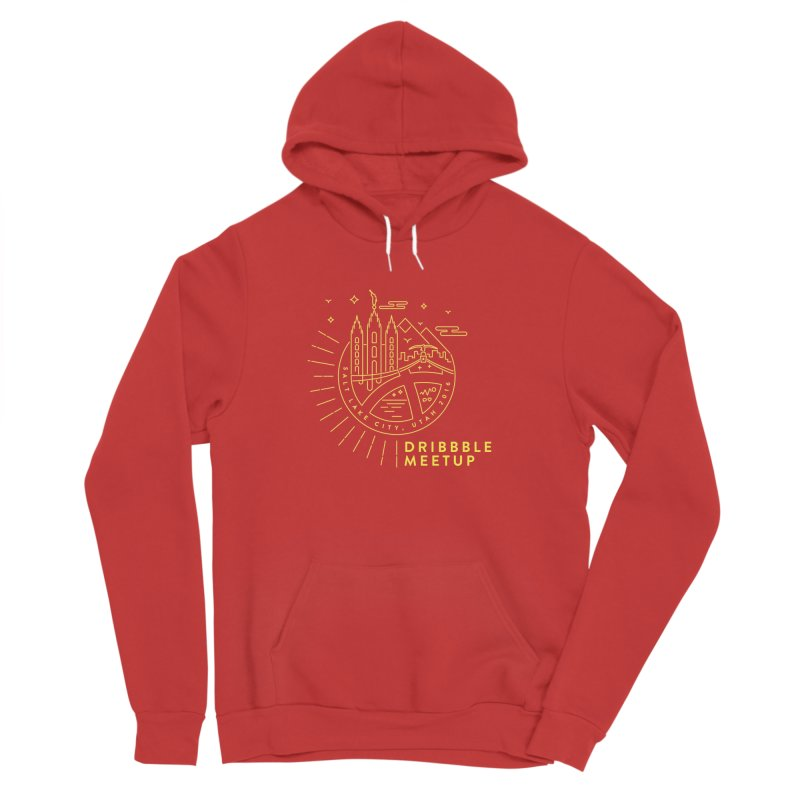 PDAU Dribbble Meetup Men's Sponge Fleece Pullover Hoody by Shane Guymon