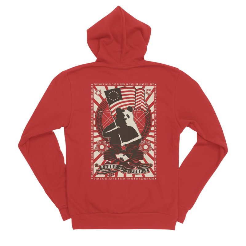 Red Propapanda Men's Sponge Fleece Zip-Up Hoody by Shane Guymon