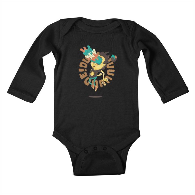 Acid Eyes Kids Baby Longsleeve Bodysuit by Shannon's Stuff