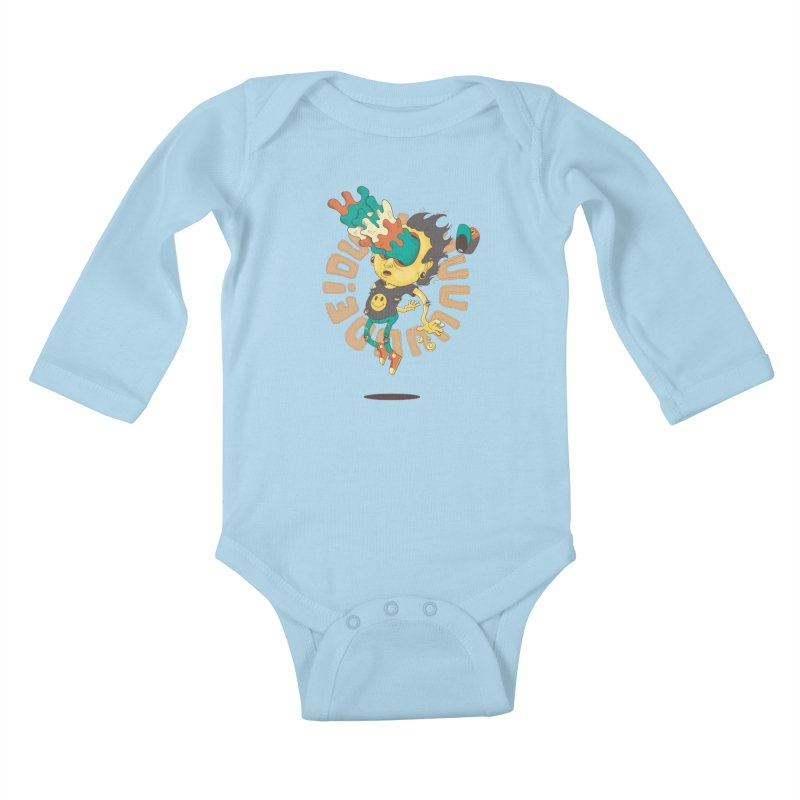 Acid Eyes Kids Baby Longsleeve Bodysuit by Shannon's Stuff