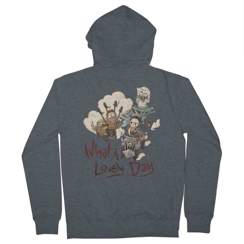 What a Lovely Day Men's French Terry Zip-Up Hoody by Shannon's Stuff