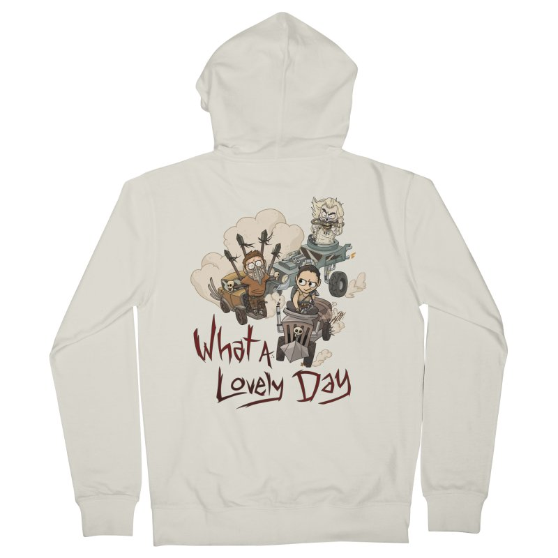 What a Lovely Day Men's Zip-Up Hoody by Shannon's Stuff