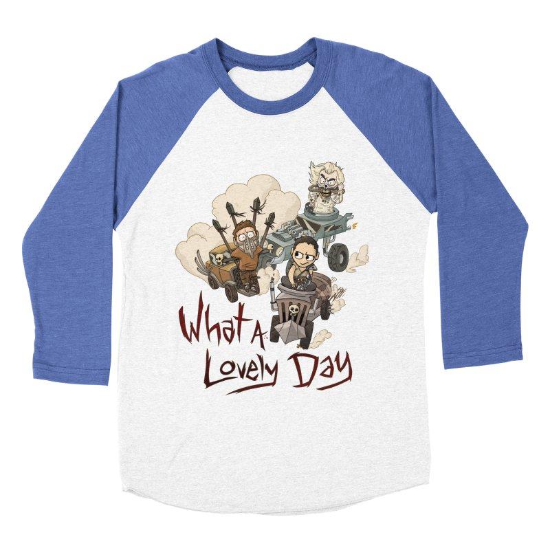 What a Lovely Day Women's Baseball Triblend Longsleeve T-Shirt by Shannon's Stuff