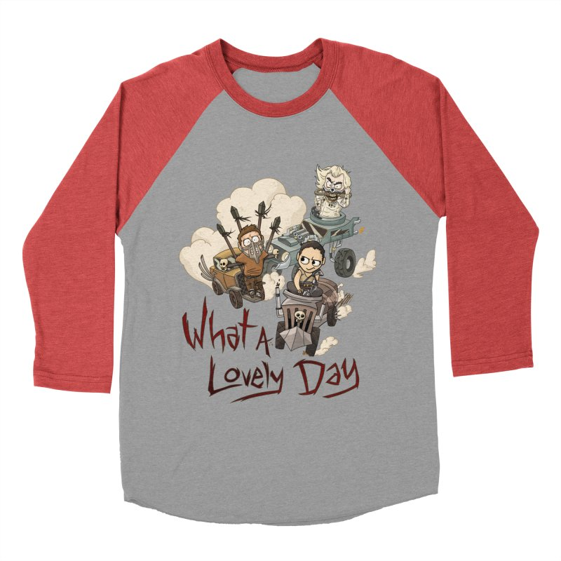 What a Lovely Day Men's Baseball Triblend T-Shirt by Shannon's Stuff