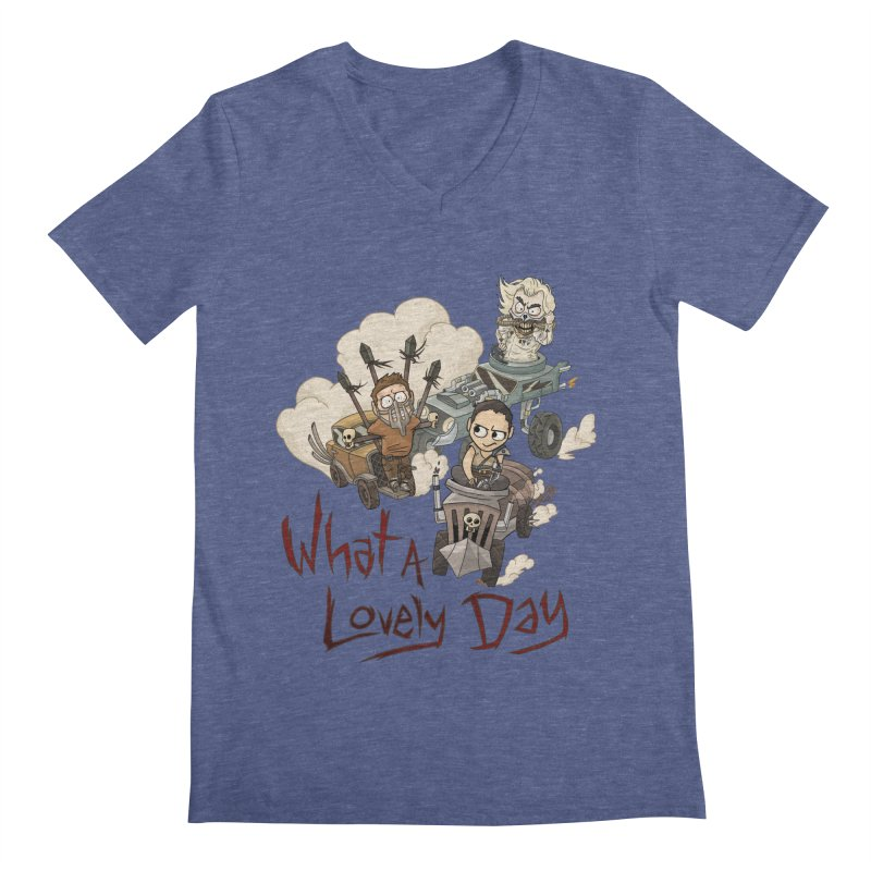 What a Lovely Day Men's V-Neck by Shannon's Stuff
