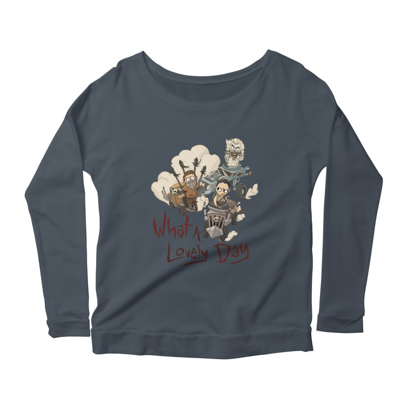 What a Lovely Day Women's Longsleeve Scoopneck  by Shannon's Stuff