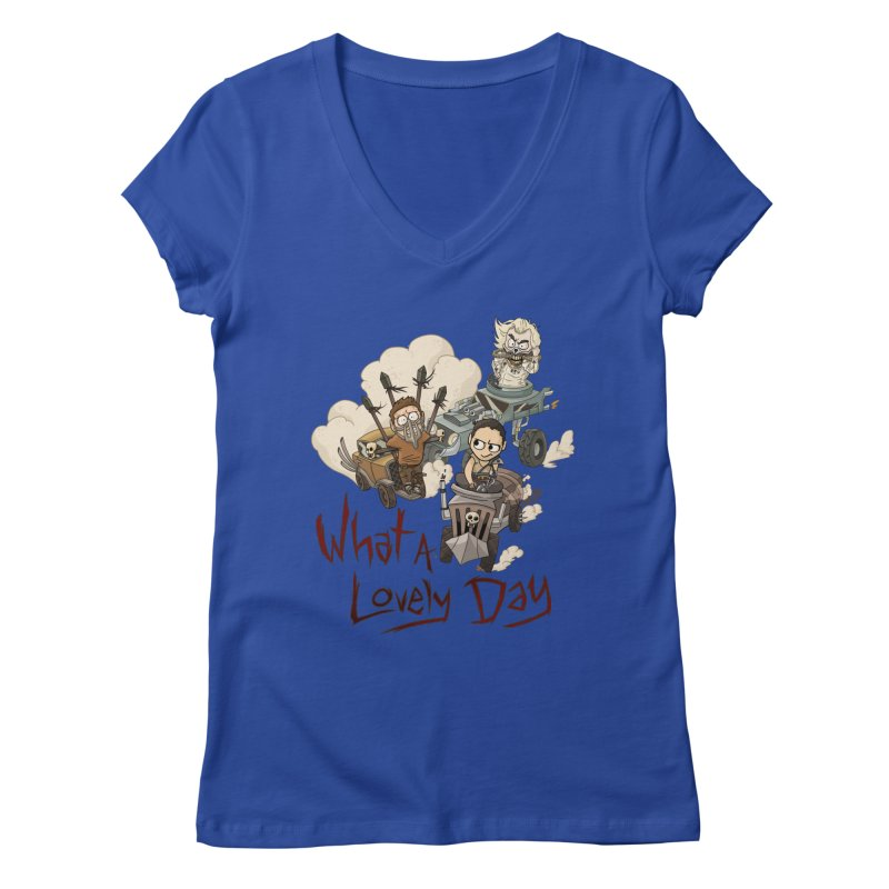 What a Lovely Day Women's V-Neck by Shannon's Stuff