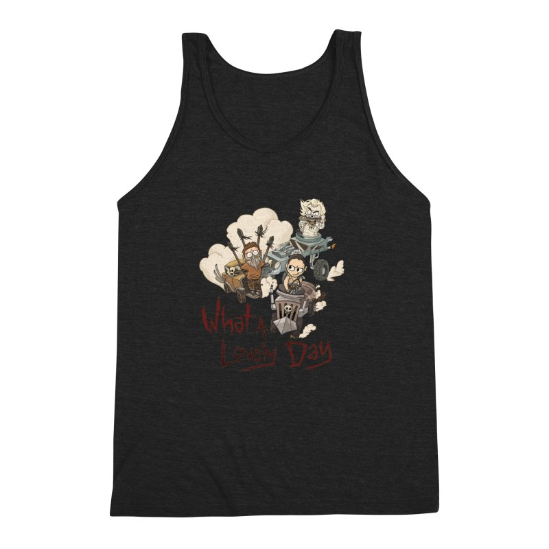 What a Lovely Day Men's Triblend Tank by Shannon's Stuff