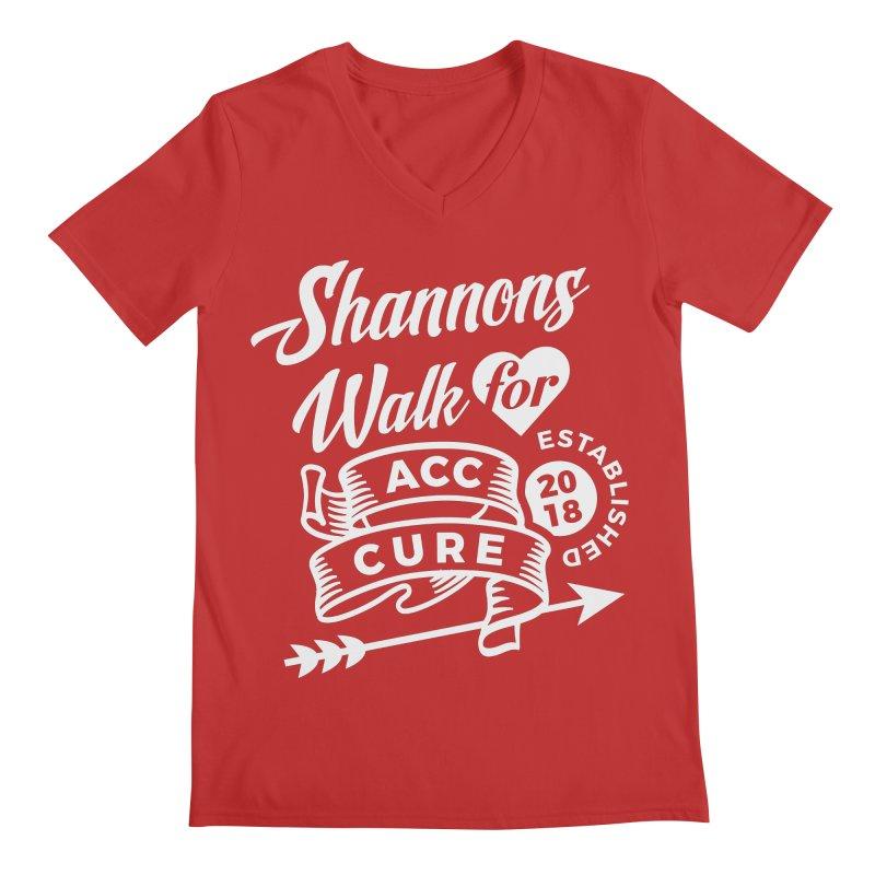 Walk T Shirt White Men's V-Neck by shannonswalk's Artist Shop