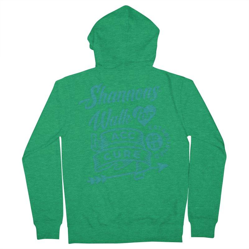 Walk T Shirt Teal Men's Zip-Up Hoody by shannonswalk's Artist Shop