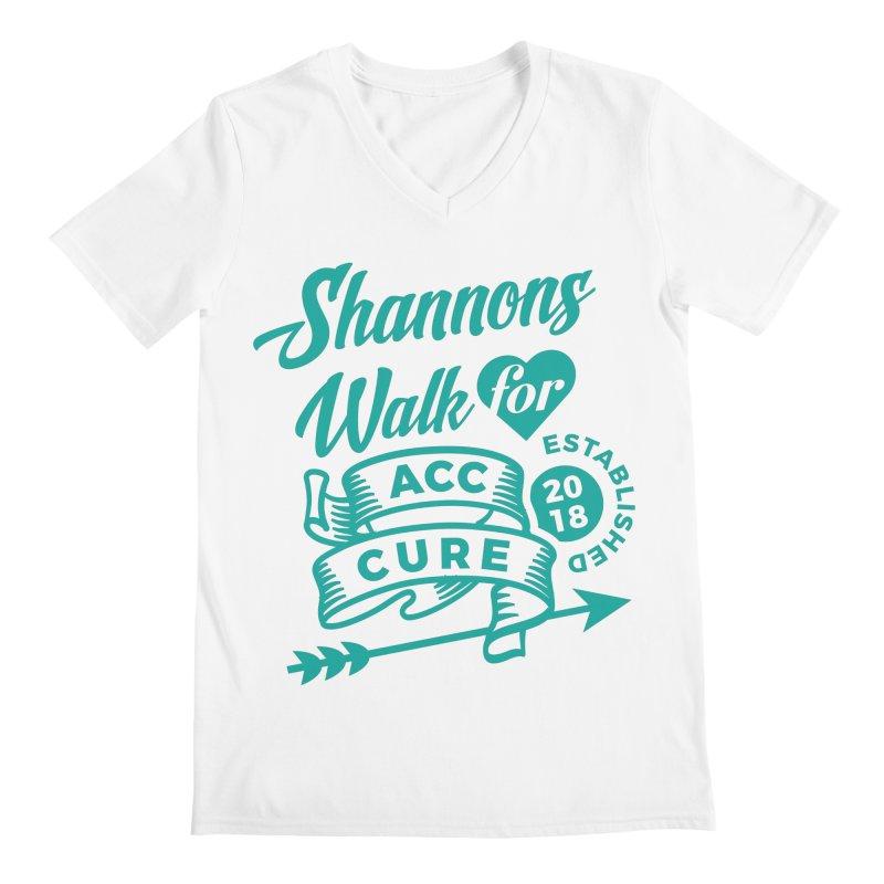 Walk T Shirt Teal Men's V-Neck by shannonswalk's Artist Shop