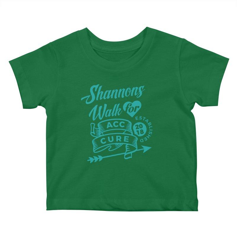 Walk T Shirt Teal Kids Baby T-Shirt by shannonswalk's Artist Shop