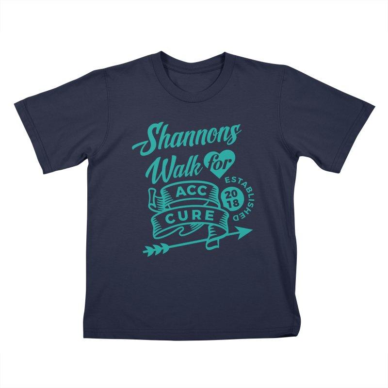 Walk T Shirt Teal Kids T-Shirt by shannonswalk's Artist Shop