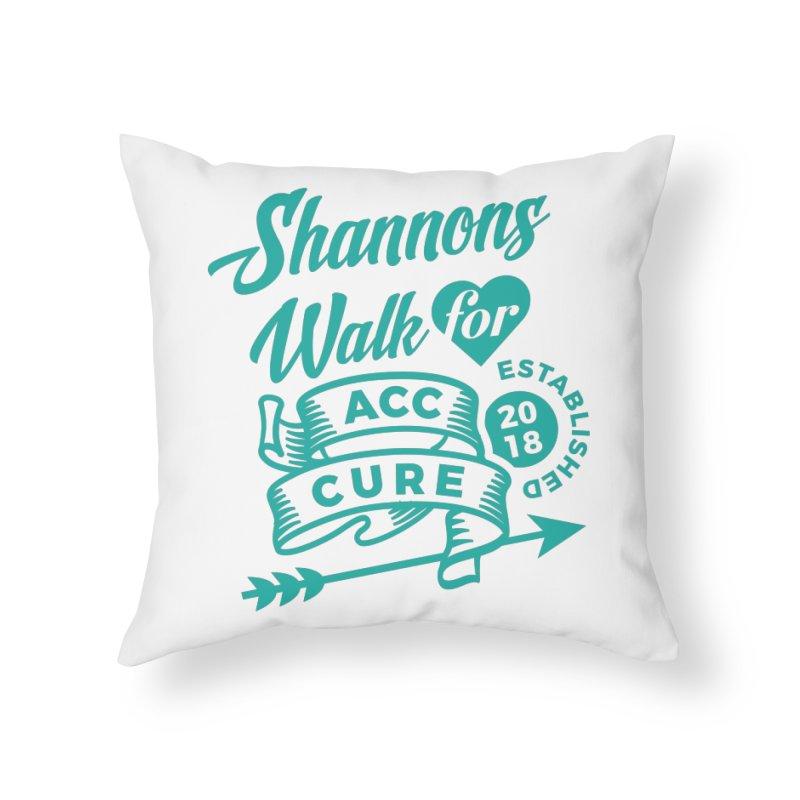 Walk T Shirt Teal Home Throw Pillow by shannonswalk's Artist Shop