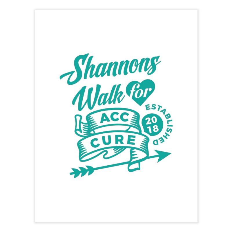 Walk T Shirt Teal Home Fine Art Print by shannonswalk's Artist Shop