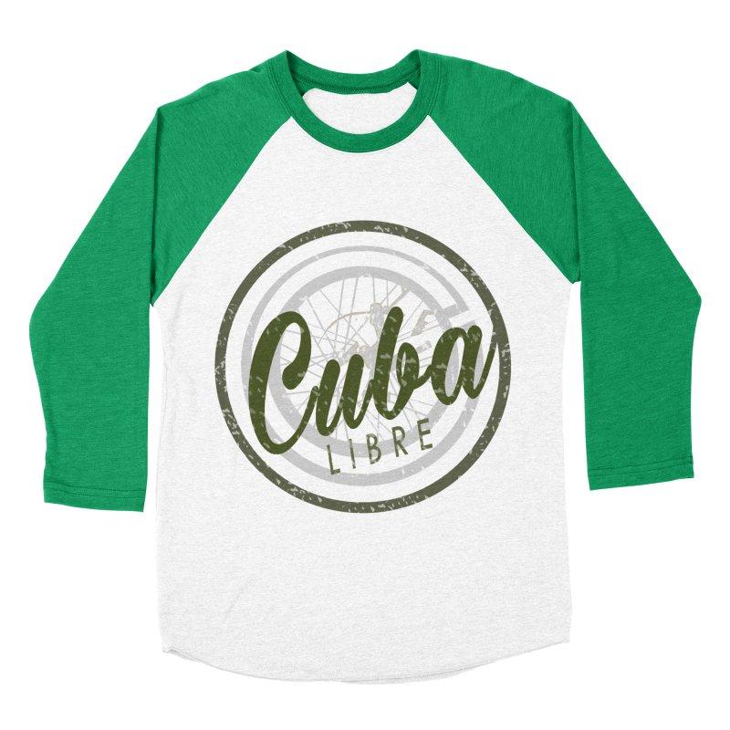 Cuba Libre Men's Baseball Triblend T-Shirt by shaoart's Artist Shop