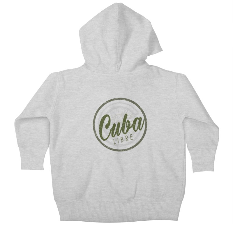 Cuba Libre Kids Baby Zip-Up Hoody by shaoart's Artist Shop