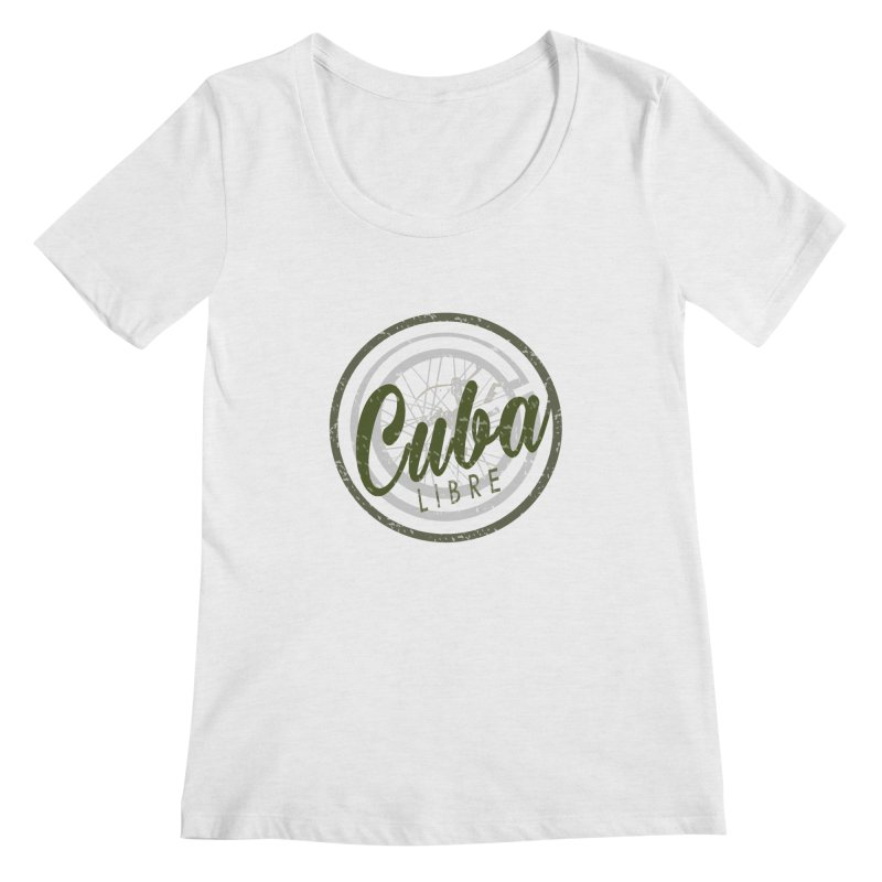 Cuba Libre Women's Scoopneck by shaoart's Artist Shop