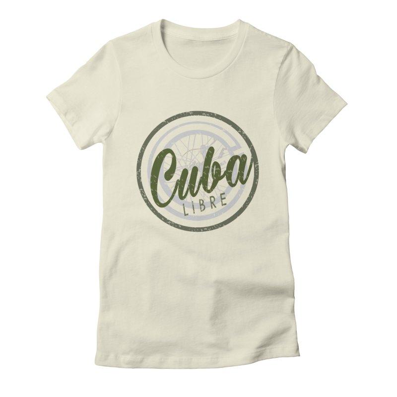 Cuba Libre Women's Fitted T-Shirt by shaoart's Artist Shop