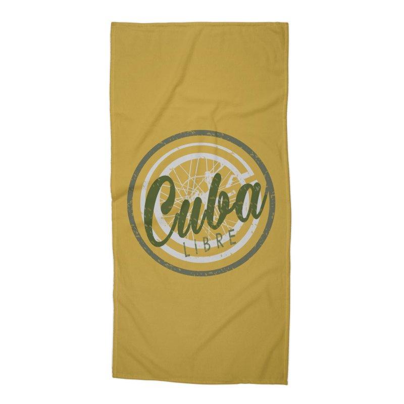 Cuba Libre Accessories Beach Towel by shaoart's Artist Shop