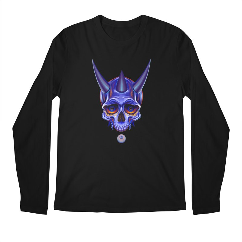 Skull Mask n1 Men's Longsleeve T-Shirt by shaoart's Artist Shop