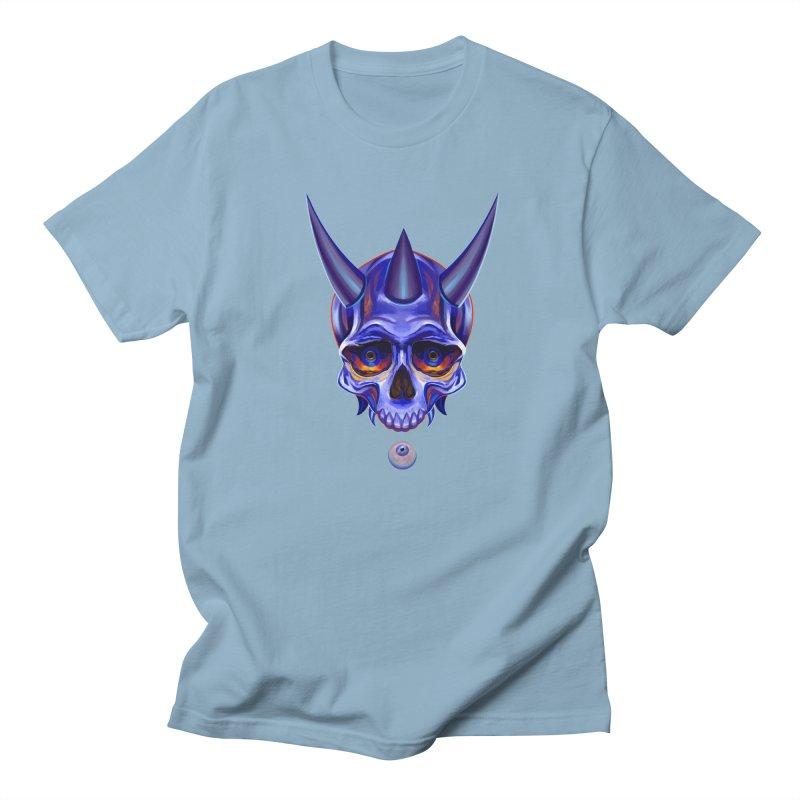 Skull Mask n1 Men's T-shirt by shaoart's Artist Shop
