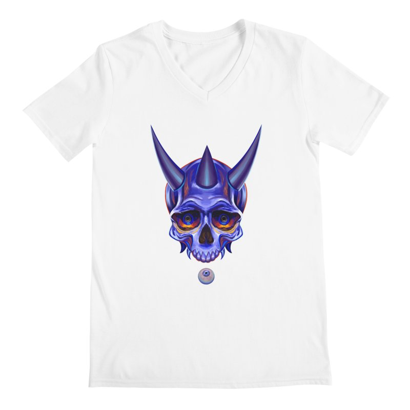 Skull Mask n1 Men's V-Neck by shaoart's Artist Shop