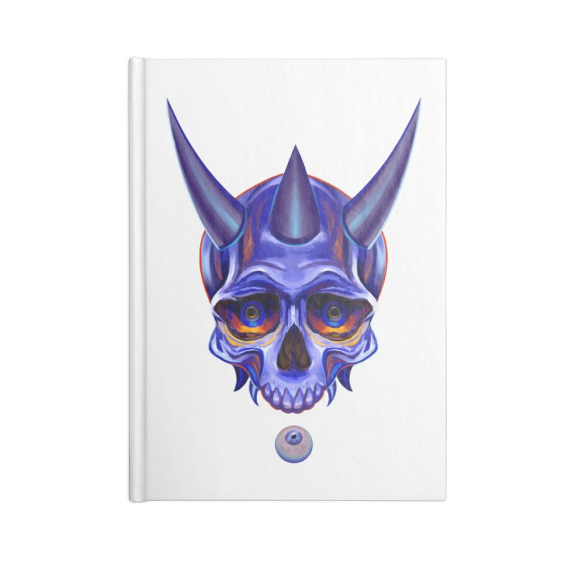 Skull Mask n1 Accessories Notebook by shaoart's Artist Shop