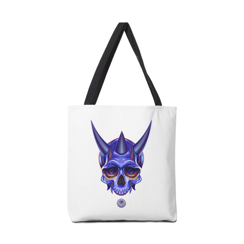 Skull Mask n1 Accessories Bag by shaoart's Artist Shop