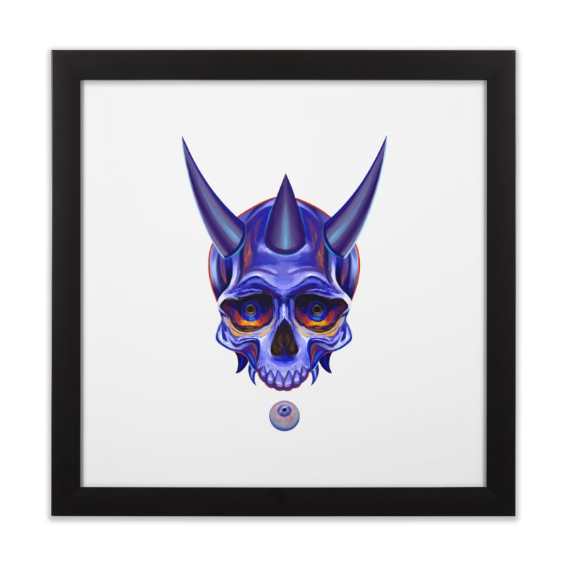 Skull Mask n1 Home Framed Fine Art Print by shaoart's Artist Shop