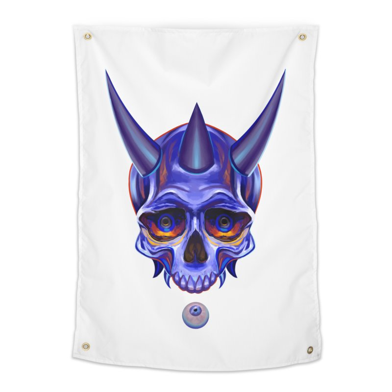 Skull Mask n1 Home Tapestry by shaoart's Artist Shop