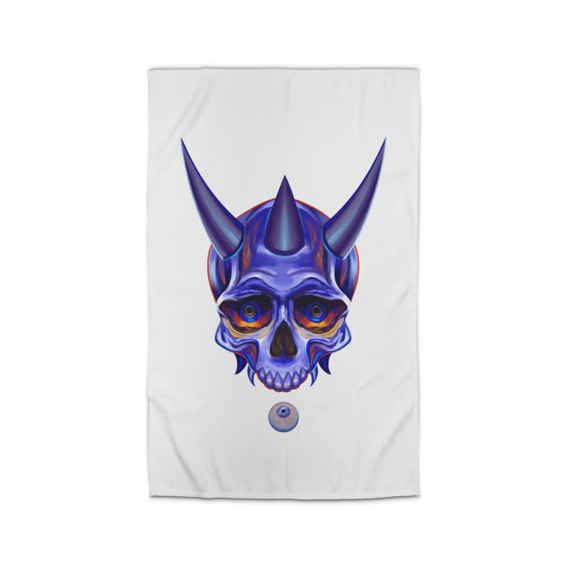 Skull Mask n1 Home Rug by shaoart's Artist Shop