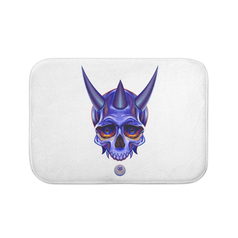 Skull Mask n1 Home Bath Mat by shaoart's Artist Shop