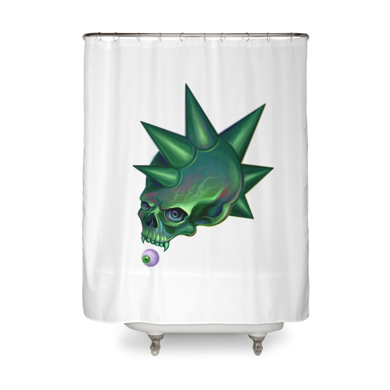 Skull Mask n2 Home Shower Curtain by shaoart's Artist Shop
