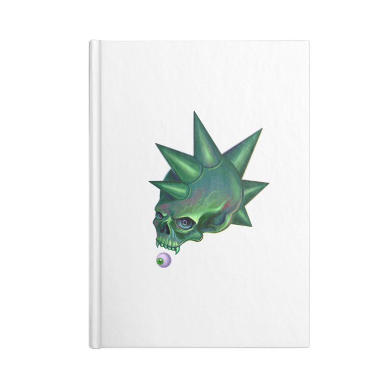 Skull Mask n2 Accessories Notebook by shaoart's Artist Shop