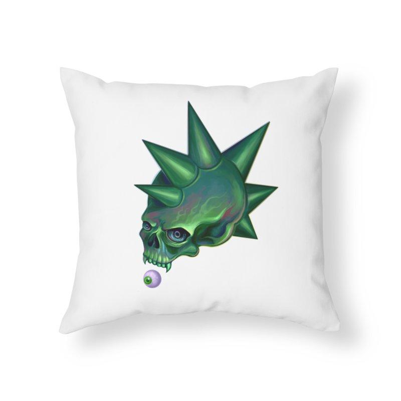 Skull Mask n2 Home Throw Pillow by shaoart's Artist Shop